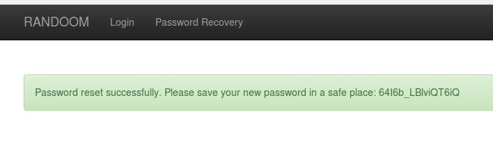 Password réinitialisé